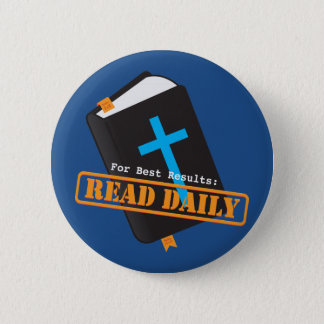 Read Bible Daily Christian Pinback Button