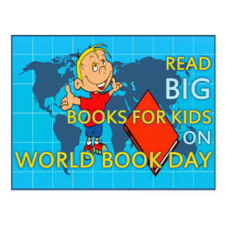 Read BIG on World Book Day Postcard