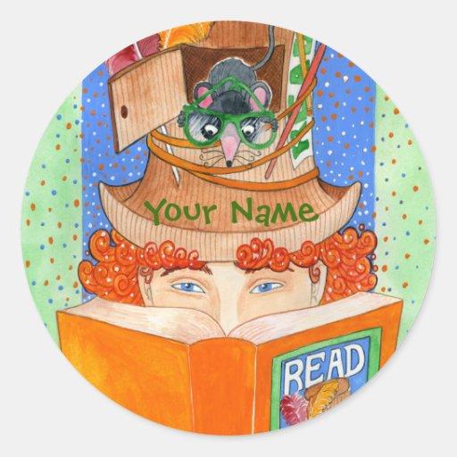 """""""READ"""" Book Nameplate Sticker"""