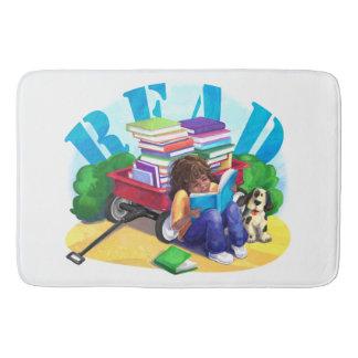 READ Book Wagon Art Bathroom Mat