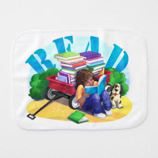 READ Book Wagon Art Burp Cloth