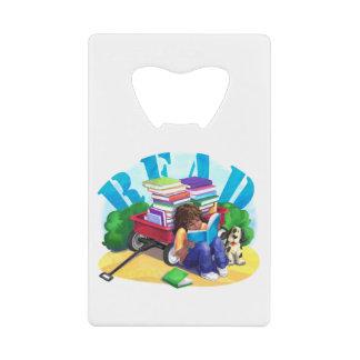 READ Book Wagon Art Credit Card Bottle Opener