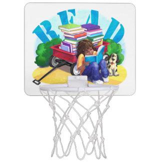 READ Book Wagon Art Mini Basketball Backboard