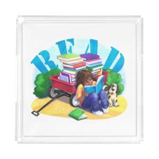READ Book Wagon Art Serving Tray