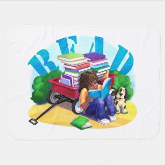 READ Book Wagon Art Stroller Blanket