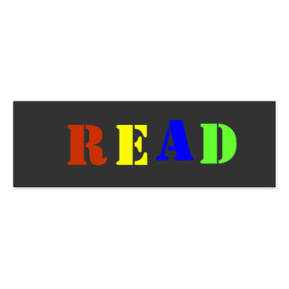 READ Bookmark to Customize Mini Business Card