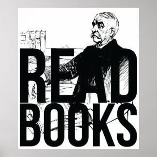 Read Books (Black on Black) Print