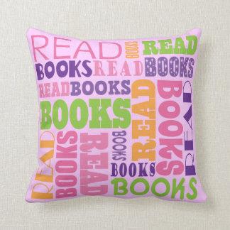 Read Books Cute Throw Pillow