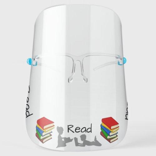 Read Books Face Shield