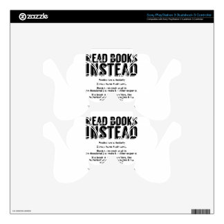 Read Books Instead, Make Facts Friendly Again PS3 Controller Skin