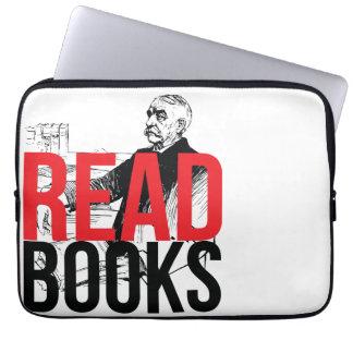 Read Books (Red on Black) Laptop Sleeve