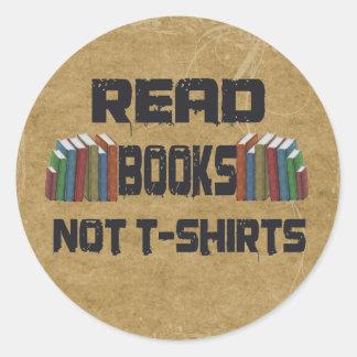 Read Books Round Stickers