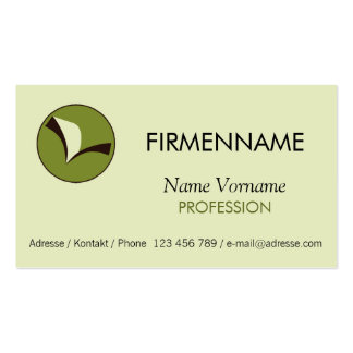 read business card