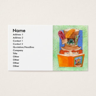 """""""Read"""" Business Card Template"""