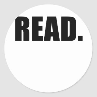 Read Classic Round Sticker