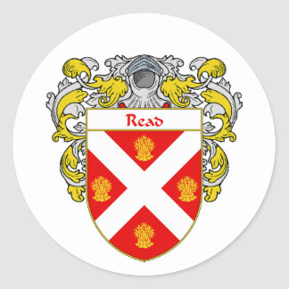 Read Coat of Arms (Mantled) Classic Round Sticker