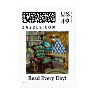 Read Every Day! Postage Stamp