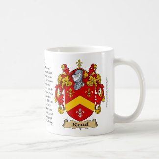 Read Family Coat of Arms Coffee Mug