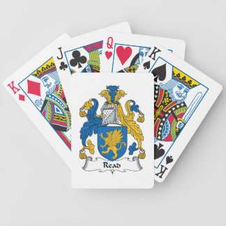 Read Family Crest Bicycle Poker Cards
