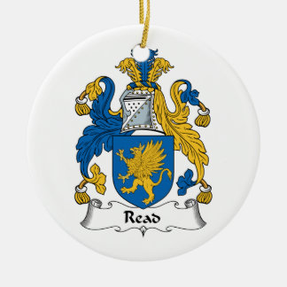 Read Family Crest Christmas Tree Ornament