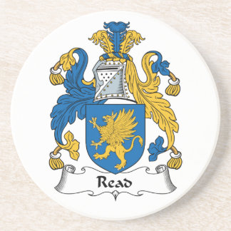 Read Family Crest Drink Coasters