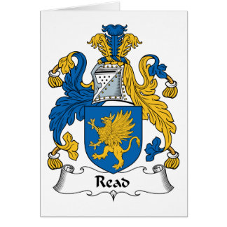 Read Family Crest Greeting Card