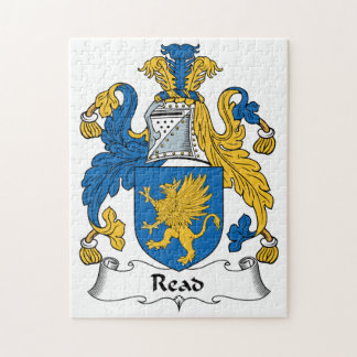 Read Family Crest Jigsaw Puzzles