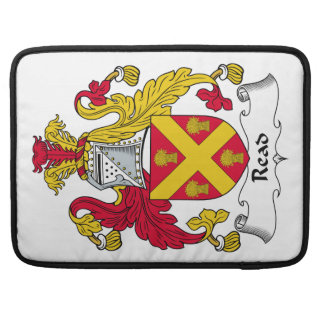 Read Family Crest MacBook Pro Sleeves