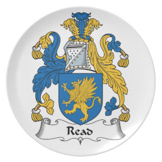 Read Family Crest Party Plate