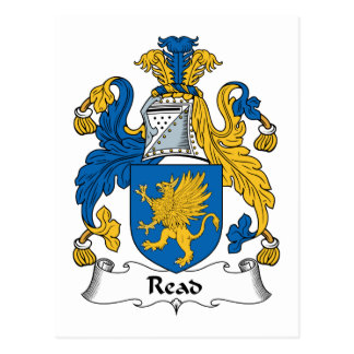 Read Family Crest Postcard