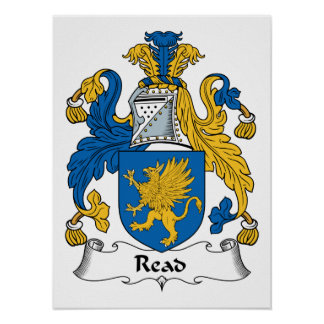 Read Family Crest Posters