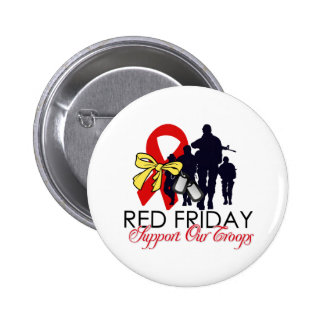 Read Friday - Support Our Troops Pinback Button