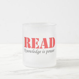 Read Frosted Glass Coffee Mug