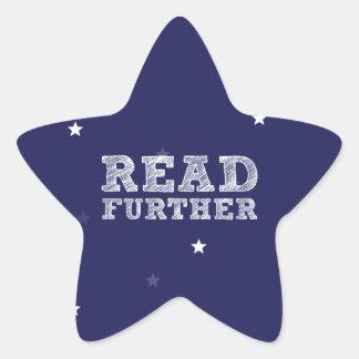 Read Further Star Sticker