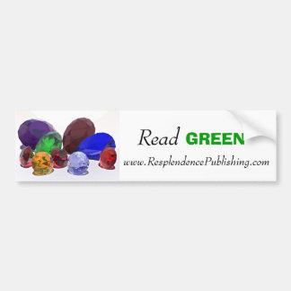 Read GREEN Bumper Sticker