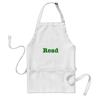 Read (green edition) adult apron