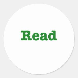 Read (green edition) classic round sticker