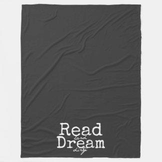 Read Hard Dream Dirty Fleece Blanket