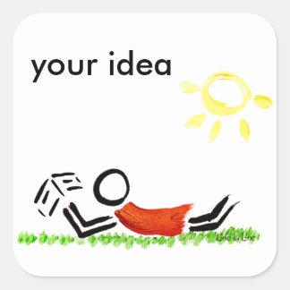 Read in the park square sticker