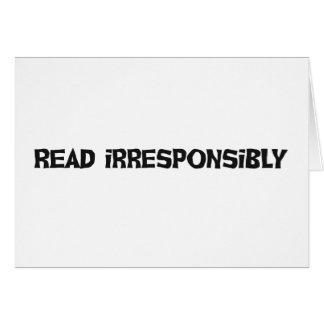 Read Irresponsibly Card