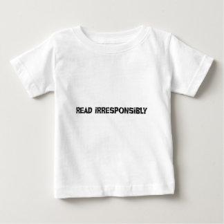 Read Irresponsibly Tee Shirt