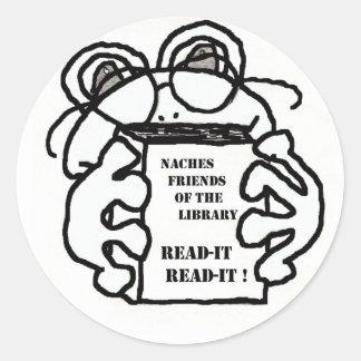 READ-IT CLASSIC ROUND STICKER