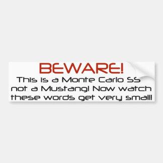 Read it from the rear Mustangs! lol Bumper Sticker