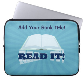 Read It! Instant  Book Promotion Laptop Sleeve