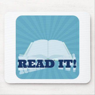 Read It! Instant  Book Promotion Mouse Pad