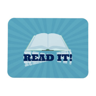 Read It Instant Book Promotion Rectangle Magnet