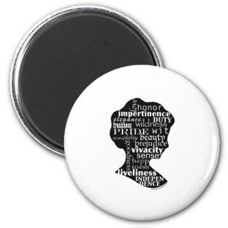 Read Jane Austen Cameo Magnet