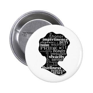 Read Jane Austen Cameo Pinback Buttons