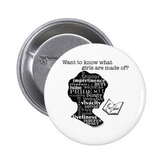 Read Jane Austen Pinback Button
