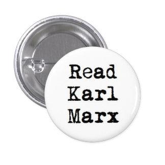 Read Karl Marx 1 Inch Round Button